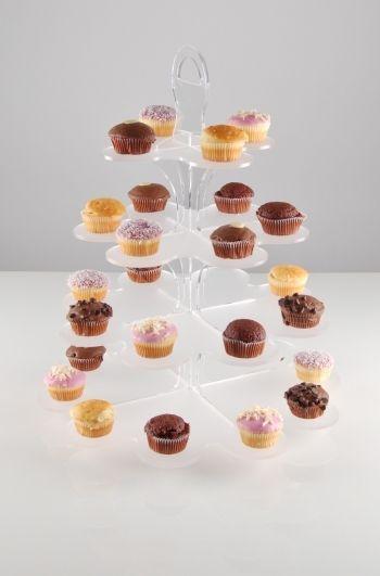 flower cupcake display stand