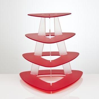 Triangle cupcake stand