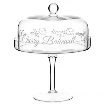 glass cake stand for bbq party sorbet