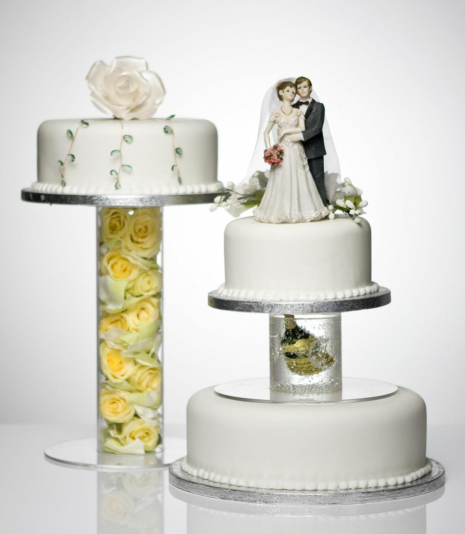 Single Tube Hollow Clear Acrylic Wedding Cake Stand Separators