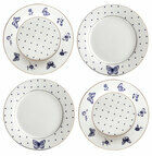 Bombay Duck Miss Peacock Cake Plates (Set Of 4)