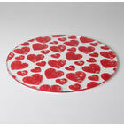 Red Hearts Design Cake Plate