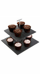 Premier Housewares 2 Tier Slate Square Cake Stand