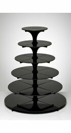 6 Tier Cupcake Stand - Black