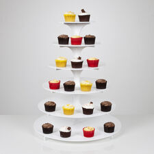 6 Tier Cupcake Stand - White