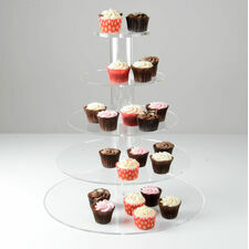 Adjustable 2/3/4/5 Tier Modular Round Cupcake Stand
