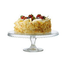 Maxwell & Williams Glass Pedestal Patisserie Footed Cake Stand