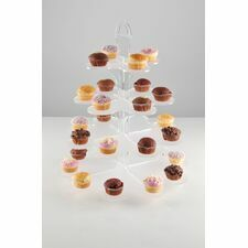 4 Tier Afternoon Tea Floral Cupcake Stand