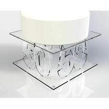 Square Angled Cake Stand