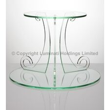 Glass Effect Acrylic Scroll Design Cake Stand
