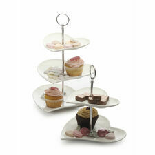 Maxwell & Williams Tiered Afternoon Tea Heart Cake Stands