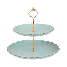 Bombay Duck Belle Blue Two Tier Cake Stand