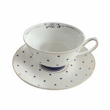 Bombay Duck Miss Peacock Teacup & Saucer Set