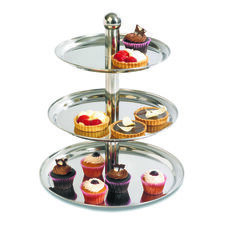 3 Tier Stainless Steel Cake Stand
