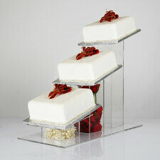 Cascade Angled 3 Tier Square Display Stand