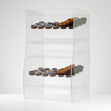 Wave Adjustable Shelf Acrylic Cake Display Cabinet