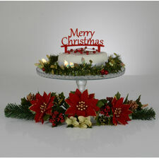 'Merry Christmas' Cake Toppers
