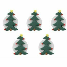 Edible Sugar Pipings Christmas Tree (5) SFX178