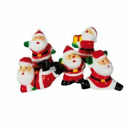 Christmas Figures Santa Fun Picks asstd F308