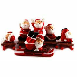 Christmas Figures Santa on a Sleigh Picks asstd F333