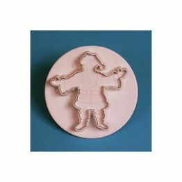PME Embossed Father Christmas Cutter 55mm FC564