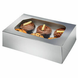 Cupcake Box Silver - Holds 6