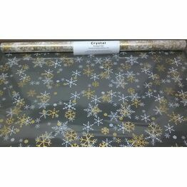 Cellophane Roll Snowflake print 600mm