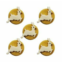 Edible Sugar Pipings Gold Reindeer (5) SFX262