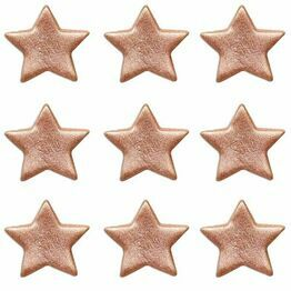 Edible Sugar Pipings Stars Rose Gold (9) SFX278
