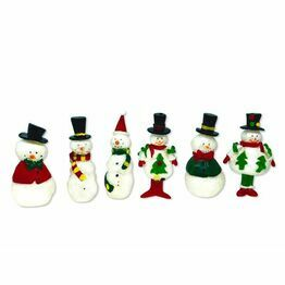 Christmas Figures Snowman Glistening Picks F372