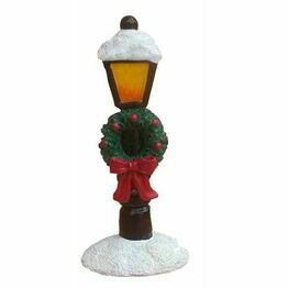 Christmas Figure Snowy Lampost F337
