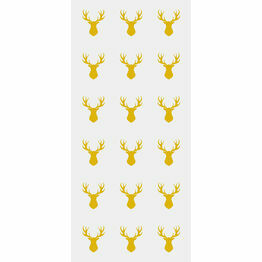 Cellophane bags with Twist Ties Gold Stag Print( 20)