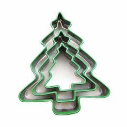 Cookie Cutters Coloured Christmas Trees (3)