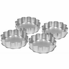 Silverwood Anodised Flan Tin 3.5inch 4Pack