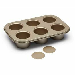 Paul Hollywood Non-Stick Six Hole Deep Baking Tin
