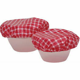 Set of Seven Plastic Food Bowl Covers