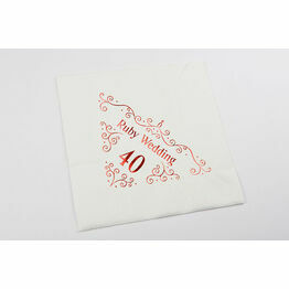 Napkins - 40th Ruby Wedding Anniversary