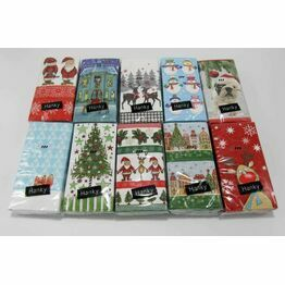 Christmas Designs Handy Pack of Tissues (10)