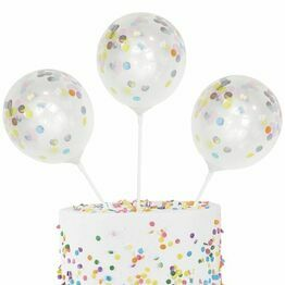 Mini Cake Topper Confetti Baloon Kit