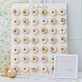 Donut Wall Gold Wedding (42)