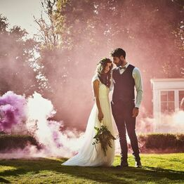 Pink Wedding Smoke Bomb