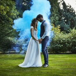 Blue Wedding Smoke Bomb