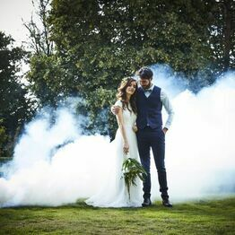 White Wedding Smoke Bomb
