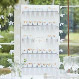Wedding Confetti Cone Holder & Cones (32)