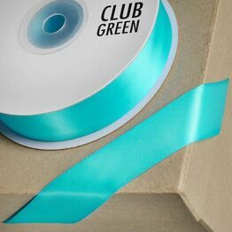 Club Green Satin Ribbon Aqua Green