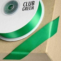 Club Green Satin Ribbon Emerald Green
