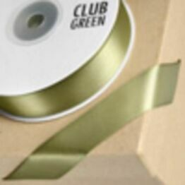 Club Green Satin Ribbon Moss Green