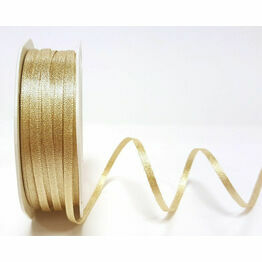 Ribbon Champagne Gold Sparkle Satin 3mm