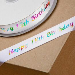 Ribbon Happy Birthday 20mm