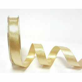 Ribbon Champagne Gold Sparkle Satin 15mm